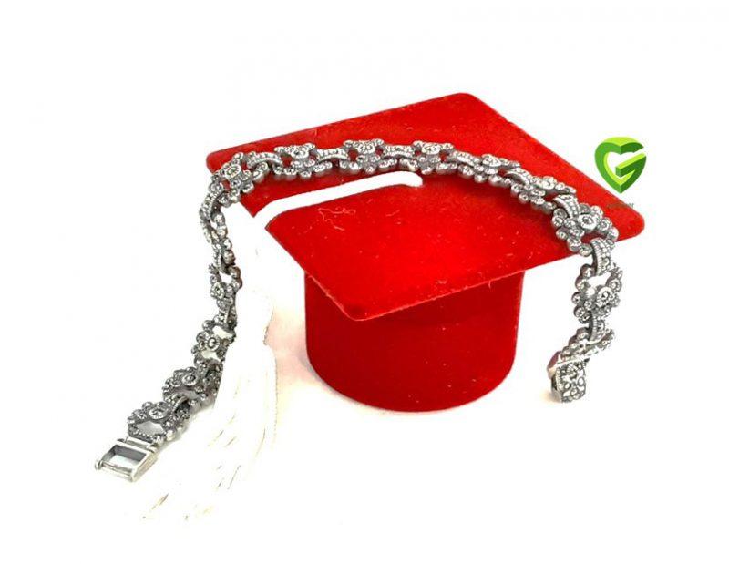 دستبند نقره ساده کد229