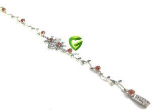 دستبندنقره گلی کد 224