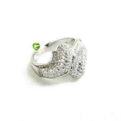 انگشترنقره جواهر باگت کد119
