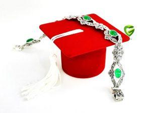دستبندنقره سبز کد 214