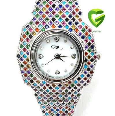 ساعت جواهررنگی کد 257