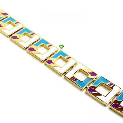 دستبنداستیل مربع کد 168