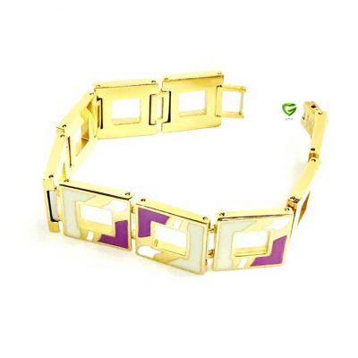 دستبند مربع استیل کد166