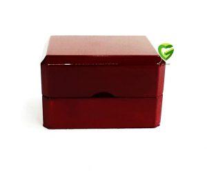 جعبه انگشترزوج آلبالویی کد331