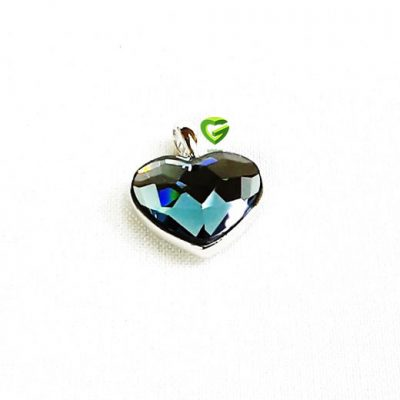 آویزسواروسکی نقره قلب کد463