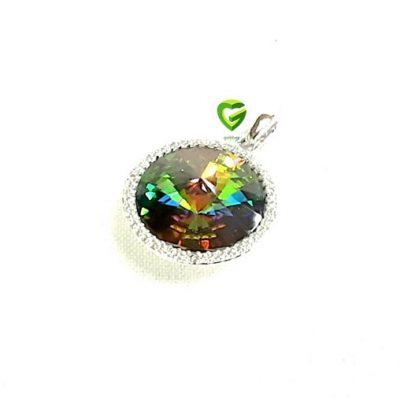 آویزسواروسکی نقره رنگی کد455
