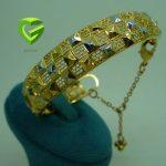 دستبند زنجیردار مربع کد 734