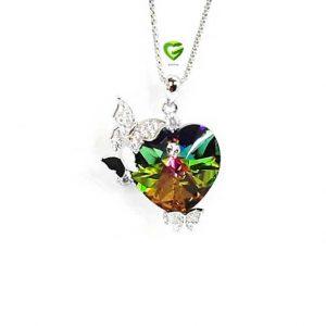 آویزسواروسکی قلب پروانه کد806